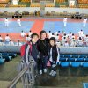 Taya, Ed and Abby at Kukkiwon, Seoul, South Korea