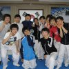 Abby with Nam Incheon Middle School Taekwondo Team